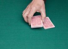 Раздача карт для игры стоковые фотографии rf