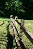 разделение рельса загородки старое Стоковые Фото