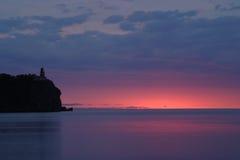 разделение утеса маяка Стоковое Фото