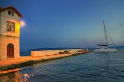 Разделение, Хорватия - изображение ночи Стоковые Изображения