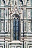 Разделите с окном собора Santa Maria del Fiore Стоковые Фотографии RF