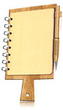 Разделочная доска тетради форменная с страницами Стоковые Фото