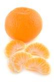 разделы померанца цитрусовых фруктов Стоковая Фотография RF