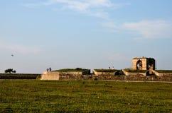 Разделы стены и караульного помещения на форте Шри-Ланке Джафны стоковая фотография