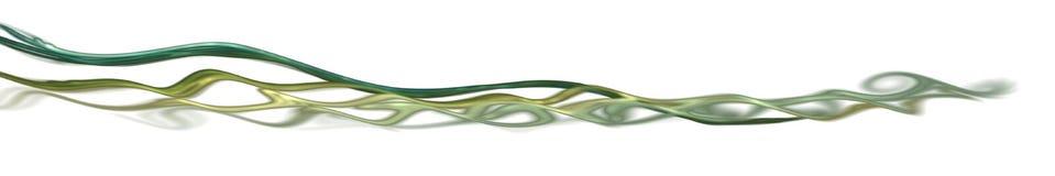 разделять зеленую линию фрактали Стоковые Фотографии RF