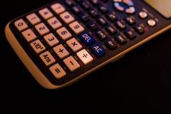 Разделять ключ клавиатуры научного калькулятора стоковая фотография