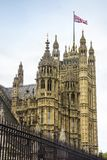Раздел дворца Вестминстера в Лондоне, Англии Стоковая Фотография RF