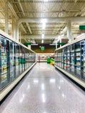 Раздел замороженных продуктов гастронома Стоковая Фотография
