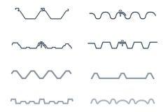 Раздел комплекта значка листа крыши, иллюстрации вектора Стоковое Фото