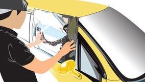 Раздел 5 подготавливает измерение создать программу-оболочку charact мультфильма вектора автомобиля фильма стоковое фото rf
