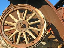 раздел фронта античного автомобиля старый заржаветый Стоковое фото RF