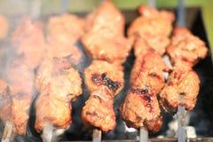Раздражённое shashlyk мяса стоковые фото