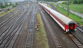 раздробите поезд на участки следа Стоковые Изображения RF