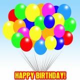 раздувает день рождения счастливый Иллюстрация вектора