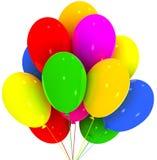 раздувает партия украшения дня рождения Стоковая Фотография RF