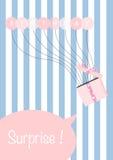 Раздувает поздравительая открытка ко дню рождения идея карточки и подарков подарка Стоковые Фото