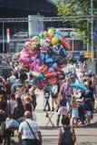 Раздувает продажа на событии 2015 ветрила в Амстердаме Стоковое Изображение RF