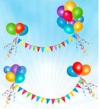 раздувает рамка состава дня рождения Стоковое Изображение RF