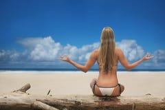 раздумье пляжа Стоковое фото RF