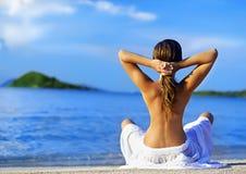 раздумье пляжа Стоковые Изображения