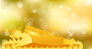 Раздумье спать Будды phra монаха на основании лотоса золота для молит отпуск составленный концентрацией r бесплатная иллюстрация