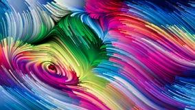 Раздумья на жидкостном цвете Стоковая Фотография RF