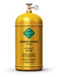 Разжиженный контейнер газа углекислого газа промышленный Стоковое Изображение