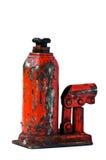 разлейте автошину по бутылкам jack случая изменяя старую к пользе Стоковое Фото