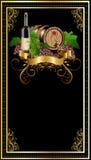разлейте вино по бутылкам stampalabel Стоковое Фото