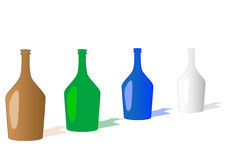 разливает вектор по бутылкам иллюстрации Стоковые Изображения RF