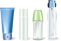 разливает косметические продукты по бутылкам бесплатная иллюстрация
