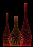 разливает красный цвет по бутылкам Стоковое фото RF