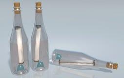 разливает сообщения по бутылкам иллюстрация штока