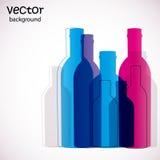 разливает цветастое по бутылкам Стоковые Фотографии RF