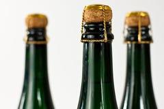 разливает шампанское по бутылкам Стоковые Фотографии RF