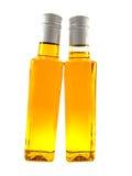 разливает linen желтый цвет по бутылкам масла 2 стоковая фотография rf