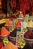 Разлитый с скольжением в национальных блюдах, восточные специи Стоковые Фото