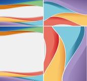 Различная абстрактная предпосылка с красочными волнистыми линиями Стоковое Фото