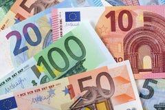 Различная предпосылка евро Стоковая Фотография