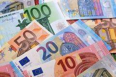 Различная различная предпосылка евро Стоковые Фотографии RF