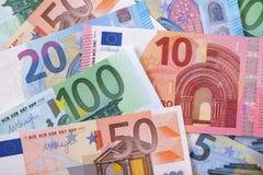 Различная различная предпосылка евро Стоковые Изображения RF