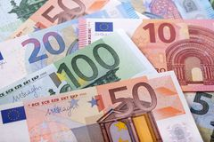 Различная различная предпосылка евро Стоковое Фото