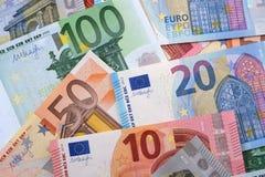 Различная различная предпосылка евро Стоковое фото RF
