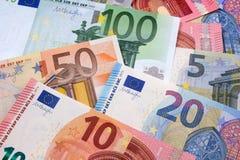 Различная различная предпосылка евро Стоковое Изображение RF