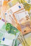 Различная предпосылка cashin евро Стоковое Фото