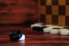 Различная шахматная доска настольных игр, играя карточки, домино Стоковые Изображения RF