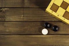 Различная шахматная доска настольных игр, играя карточки, домино Стоковое Изображение RF