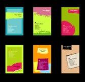 различное визитной карточки установленное Стоковые Изображения RF
