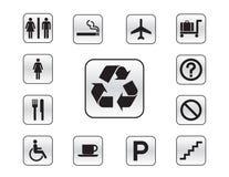 различное иконы кнопок установленное Стоковое Фото