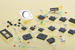 различное компонентов электронное Стоковое Фото